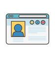 website content social media icon vector image vector image