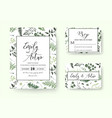 wedding invite invitation rsvp card floral vector image vector image