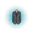 Wedding jacket comic icon vector image