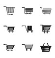 wheel cart icon set simple style vector image