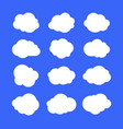 white simple clouds thinking bubbles or tags vector image