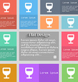 Wine glass Alcohol drink icon sign Set of vector image
