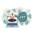 young woman in attend yoga vector image vector image