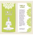 Set card template for spa center yoga studio vector image