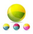 Colorful geometric balls vector image