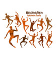 animation of human body anatomy people in motion vector image