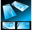 four business card set vector image