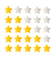 5 star rating set simple rounded shapes in grey vector image vector image
