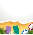 a frame beach vector image vector image