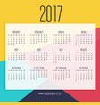 abstract 2017 new year calendar design with vector image