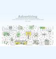 advertising marketing concept or product promotion vector image