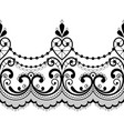 alencon french seamless lace pattern vector image vector image