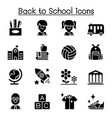 back to school education kindergarten learning vector image