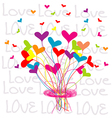 Background with a bouquet of hearts vector image vector image