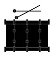 band drum musical instrument vector image vector image