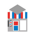 barbershop building front icon vector image vector image