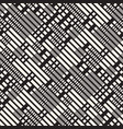 black and white irregular dashed lines pattern vector image vector image