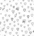 Black Love Heart Padlock Pattern Doodle Background vector image