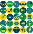 Bright carnival icons Seamless pattern vector image vector image