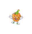 brioche mascot with clown on white background vector image vector image