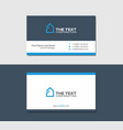 business cards template commercial real estate vector image vector image