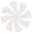 car fireworks swirl flower vector image vector image