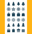Christmas season elements collection vector image vector image