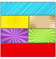 comic book blank background vector image