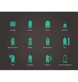 Condom and Medical icons vector image vector image