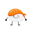 cute cartoon sushi character kawai sushi vector image