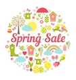 Decorative circular Spring Sale Sign vector image vector image