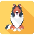 dog Rough collie icon flat design vector image vector image