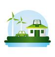 eco friendly planet design image vector image vector image