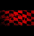 fast car chequered flag vector image