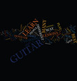 four ways to learn guitar text background word vector image vector image
