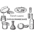 french cuisine vector image