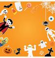 happy halloween characters in cartoon style vector image vector image