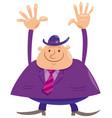 happy man or businessman cartoon character vector image vector image