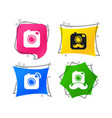 hipster photo camera with mustache icons vector image vector image