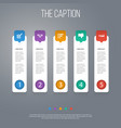 icon job set of bullhorn done greeting and other vector image vector image
