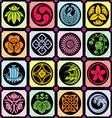 japan design elements vector image vector image