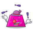 juggling trapezoid mascot cartoon style vector image vector image