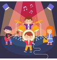 Kids Rock Band vector image vector image