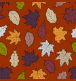 leaves seamless fall 6 vector image vector image