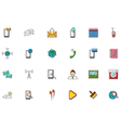 Mobile services colorful icons set vector image