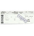 modern and realistic boarding pass vector image vector image