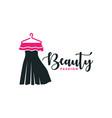 modern fashion clothing logo vector image vector image