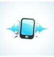 music breaks mobile phone vector image vector image