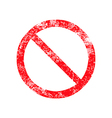 not allowed sign red grunge rubber stamp vector image vector image