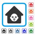 nursery house framed icon vector image